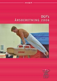 2 Beretning 2006 - Danmarks Gymnastik Forbund