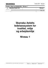 Skanska Asfalts ledelsessystem for kvalitet, miljø og arbejdsmiljø ...
