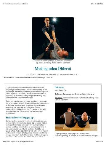 © Terpsichore.dk   Med og uden Diderot - Samuel Gustavsson