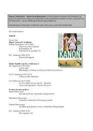 Kanon indhold mellem.. - Webside for familien Vognstoft