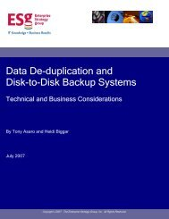 Data De-duplication and Disk-to-Disk Backup Systems