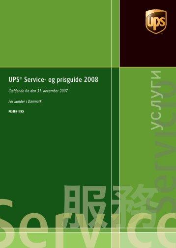 ups 2008 ST004 cover DK-da.indd - UPS.com