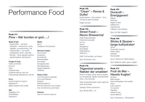 Performance Food - Kokkenhavn
