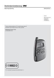 Fjernbetjening Tp5 - HV-Elektro