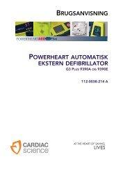brugsanvisning powerheart automatisk ekstern ... - Cardiac Science