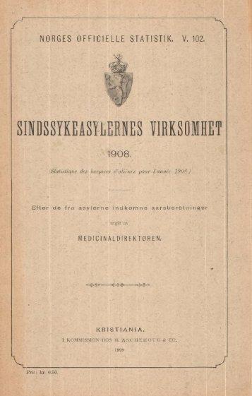 Sindssykeasylernes Virksomhet, 1908, Efter de fra asylerne ...