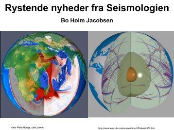 Rystende nyheder fra Seismologien