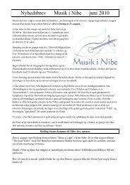 Nyhedsbrev Musik i Nibe juni 2010