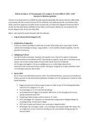 Referat af møde nr. 15 - DEFF