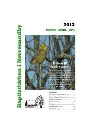 Kirkeblad 2013 marts-april-maj - Baptistkirken i Nørresundby