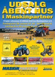 Udsalgsavis 2010-1.indd - Maskinpartner A/S