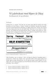 til julefrokost med Bjørn & Okay - dansk musikforskning online