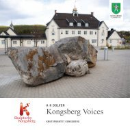 Kongsberg Voices, Brosjyre - Kongsberg Kommune