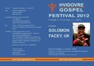 festival 2012 solomon facey, uk - Velkommen til Hvidovre Gospel