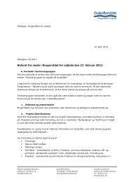 Referat fra møde i Brugerrådet for sejlads den 27. februar 2012