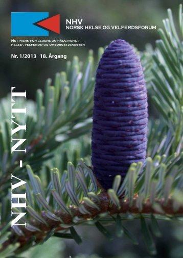 NHV-nytt nr 1/2013 - Norsk helse- og velferdsforum