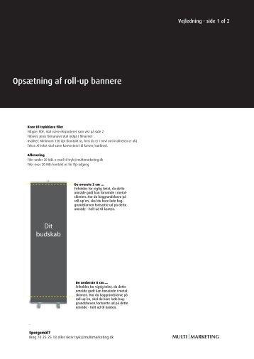 Vejledning til opsætning (PDF) - Multimarketing