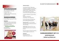 KURSUSOVERSIGT 2011-12 - Hjerteforeningen