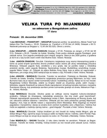 VELIKA TURA PO MIJANMARU 28.DEC 2009 - Kontiki