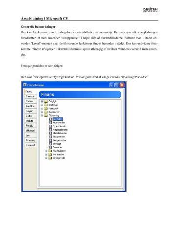 Årsafslutning i Microsoft C5
