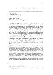 Teknik och bildning Bidrag till en kritisk bildningsteori - Forskning