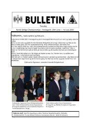 Bulletin 26.06.00 - Nordic Bridge Union