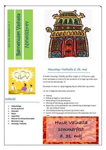 Valhalla Nyhedsbrev maj 2013 - Børnehuset Valhalla