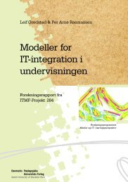 Modeller for IT-integration i undervisningen - DPU