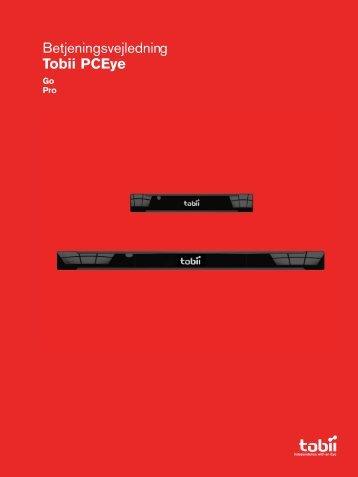 Betjeningsvejledning Tobii PCEye - Tobii Technology