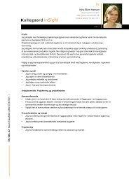 Hent mit CV (PDF-fil) - Kullegaard Insight - Kullegaard Arkitekter