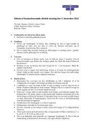 Referat af bestyrelsesmøde afholdt mandag den 3. december 2012
