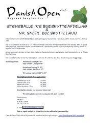 Indbydelse Danish Open - Vinterskydning