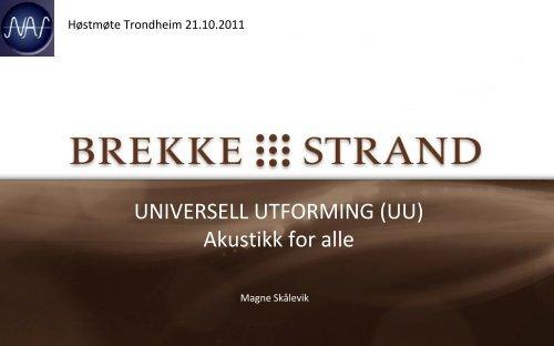 Universell utforming - Norsk Akustisk Selskap