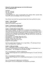 Referat fra afdelingsmøde for afd. 403 og 409 - Til Boligselskabet ...