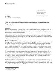Notat om overbrusning eller tilsvarende anordning i svinestalde