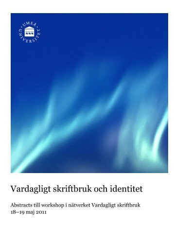 Book of abstracts 2011 - Institutionen för språkstudier - Umeå ...