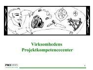 Virksomhedens Projektkompetencecenter - Prodevo projektmetodik
