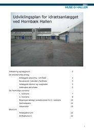 Udviklingsplan Hornbæk - Hornbæk Idrætsforening