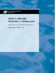 NEXT 1 1998 - 2003 Pesticider 1 i drikkevand