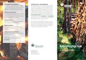 Bæredygtigt træ (Pdf; 234 kb) - Naturstyrelsen