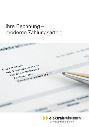 moderne Zahlungsarten - Genossenschaft Elektra, Jegenstorf