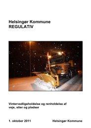 regulativ for vintervedligeholdelse og renholdelse af veje, stier