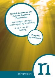 Program og Abstracts - Psykiatrien - Region Nordjylland