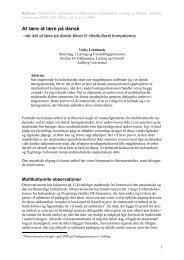 At lære at lære på dansk - Reflexen - Aalborg Universitet