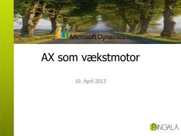 Titel Microsoft Dynamics AX 2012