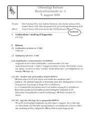 Offentligt Referat Bestyrelsesmøde nr. 4 9. august 2010