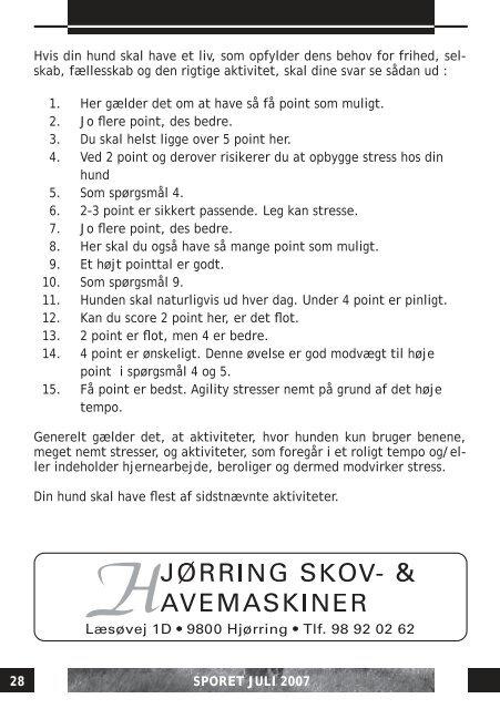 NR. 4 . JULI . 2007 . 31 ÅRGANG - DcH Hjørring