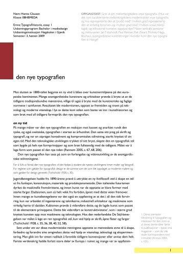 den nye typografien - Hanne Clausen