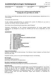 Referat ordinær generalforsamling, den 26. april ... - A/B Vanløsegaard