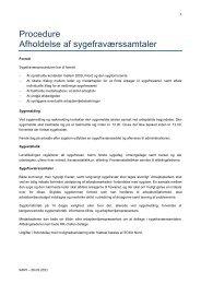 Procedure Afholdelse af sygefraværssamtaler - Vinsa